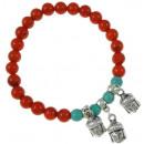 grossiste Bijoux & Montres: Bracelet Corail  Corail Tête de Bouddha