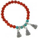 Bracelet Coral Coral Bouddha