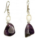 wholesale Jewelry & Watches: Freshwater pearl and gemstone earrings Pearl Ameth