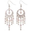 wholesale Earrings: Oriental Rose Quartz gemstone earring