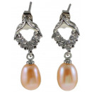 wholesale Jewelry & Watches: Freshwater Pearl Earring Bling Pearl Heart Z