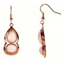 Rose Quartz Gemstone Earring Gold