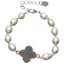 wholesale Jewelry & Watches: Freshwater Pearl Bracelet Pearl Four Leaf Clover