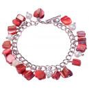 Frischwasserperle und Shell-Armband Perlen Red She