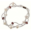wholesale Jewelry & Watches: Freshwater Pearl Bracelet Pearl Purple Crystal Twi