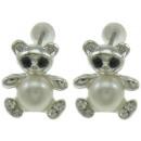 mayorista Pendientes: Perlas de agua dulce pendiente oso perla W