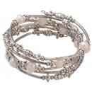grossiste Bijoux & Montres: Perle d'eau  douce Bracelet Perle Métal Big Wra
