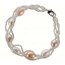 Schmuck von Süßwasser Perlen Armband Perlenschnur