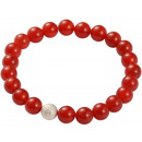 wholesale Jewelry & Watches: Gemstone bracelet Silver Ball Red Agate