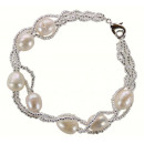 grossiste Bijoux & Montres: Perle d'eau  douce Bracelet Pearl White Twine