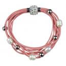 grossiste Bijoux & Montres: Perle d'eau douce Bracelet Bling Pink Pearl