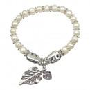 Großhandel Armbänder:-Süßwasser Zuchtperlen Armband Perlen-Blatt