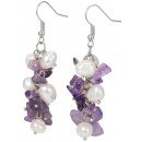 wholesale Jewelry & Watches: Freshwater pearl earring with gemstone Pearl Ameth