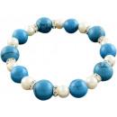 wholesale Bracelets: Freshwater pearl bracelet with gemstone Bling Pear