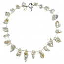 mayorista Joyas y relojes: collar de perlas de agua dulce blanco de la perla