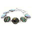 groothandel Sieraden & horloges: Paarlemoeren  armband Abalone Round