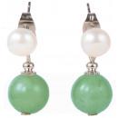 wholesale Earrings: Freshwater pearl earring with gemstone Pearl Stud