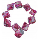 Mother of pearl  bracelet Shell AB Pink