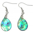 wholesale Jewelry & Watches: Mother of pearl earring Abalone Light Teardrop
