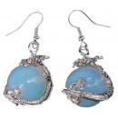 grossiste Bijoux & Montres: Gemstone boucles  d'oreilles Opale Sea Dragon