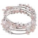 Gemstones Bracelet Wrap Rose Quartz Chip