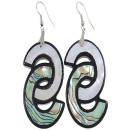 wholesale Jewelry & Watches: Mother of pearl earring Abalone Double C