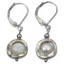 Süßwasser Perlen-Ohrring-Perlen-Geometric