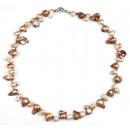 grossiste Bijoux & Montres: Eau douce collier de perles Brown Lady