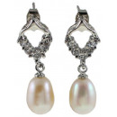 wholesale Jewelry & Watches: Freshwater Pearl Earring Bling Pearl Heart W