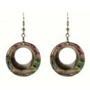 grossiste Bijoux & Montres: Abalone perle boucle d'oreille Donut