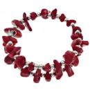 ingrosso Gioielli & Orologi: bracciale di corallo Wrap argento Corallo