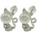 wholesale Earrings: Freshwater pearl earring Pearl Cat W