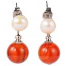 mayorista Joyas y relojes: pendiente de perlas de agua dulce con la ...