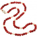 wholesale Necklaces: Coral necklace with freshwater pearl coral Pearl