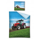 bed linen 140x200  70x80 tractor for boy 100% cott