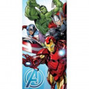 towel coton 70/140 Avengers light blue