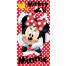 asciugamano cotone 70/140 Minnie rosso 02