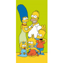 towel coton 70/140 Simpsons family green