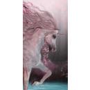 Großhandel Lizenzartikel: Handtuch Baumwolle 70/140 Unicorn roses