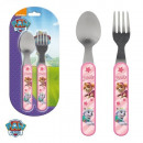 wholesale Houshold & Kitchen: Set of cutlery  2pcs fork spoon Paw Patrol