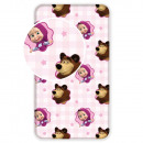 Bed sheet 90/200 Masha and The Bear