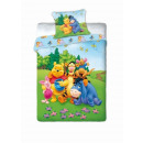 grossiste Articles sous Licence: drap 160x200 70x80 Disney Winnie l''ourson