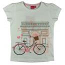 T-Shirt GIRLS bike white