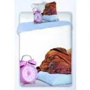 bed linen 140x200 70x90 Pug Alarm clock