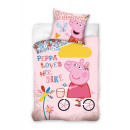 bed linen Peppa  Pig bike 140x20070x90cotton