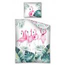 Ropa de cama juvenil 140x200 70x80 flamingo.