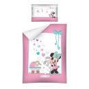grossiste Articles sous Licence: drap le bébé  Minnie 135x100 40x60 coton