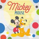 toalla arandela de 30x30 Mickey Pluto Disney algod