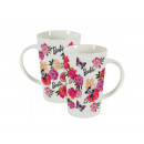 A porcelain mug Barbie 400 ml flowers MATTEL