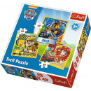 Paw Patrol 3in1 Puzzle - Marshall, Rubble and Chas